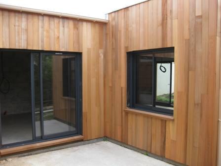 agrandissement construit en bois, ossature bois