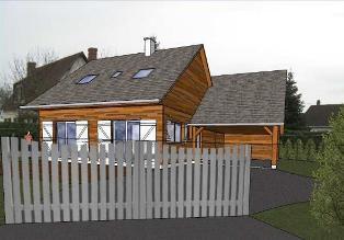 plan maison en bois, construction par notre maitre d oeuvre
