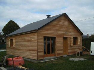 petite maison en bois avec isolation en laine de bois, maison en ossature bois construite proche Evreux dans l`Eure 27