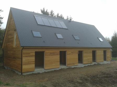 Maison en bois, construite en ossature bois en Normandie par nos artisans