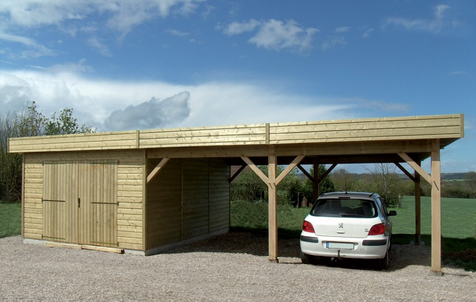 garage en bois en normandie