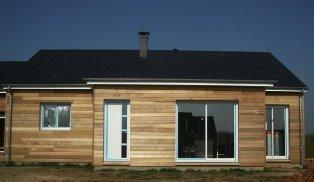 maison en bois construite proche Rouen en Seine maritime