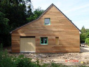 construction à Rouen en Normandie d`une maison bois labellisable BBC