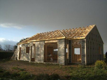 construction d`une maison en ossature bois
