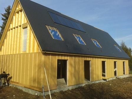 maison bois construite en ossature bois