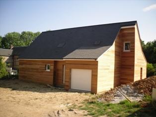 maison ossature bois et isolation extérieure proche Evreux département de l`Eure