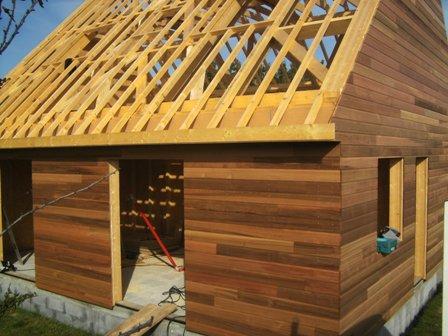 bardage red cedar maison bois