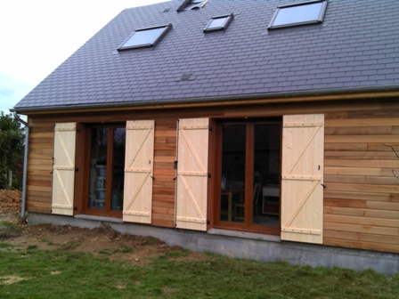 maison bois en Normandie livrais en hors eau air